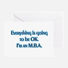 OK I'm an MBA Greeting Card