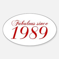 Fabulous since 1989-Cho Bod red2 300 Decal