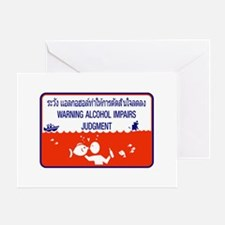 Alcohol Impairs Judgment, Thailand Greeting Card