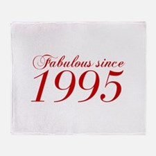 Fabulous since 1995-Cho Bod red2 300 Throw Blanket