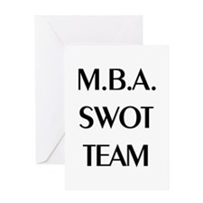 MBA SWOT Team Greeting Card