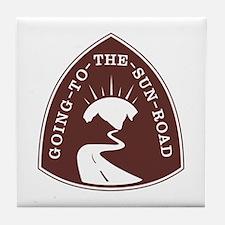 Going to the Sun Road, Montana Tile Coaster