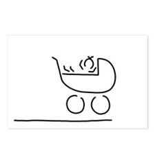baby in buggy Postcards (Package of 8)