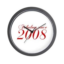 Fabulous since 2008-Cho Bod red2 300 Wall Clock