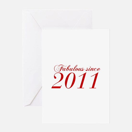 Fabulous since 2011-Cho Bod red2 300 Greeting Card