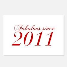 Fabulous since 2011-Cho Bod red2 300 Postcards (Pa