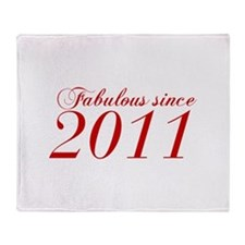 Fabulous since 2011-Cho Bod red2 300 Throw Blanket