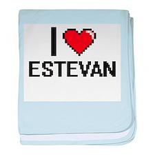 I Love Estevan baby blanket
