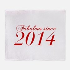 Fabulous since 2014-Cho Bod red2 300 Throw Blanket