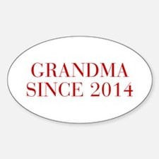 Grandma since 2014-Bau red2 500 Decal