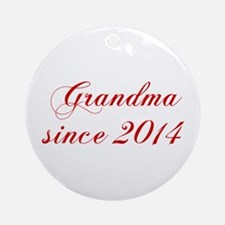 Grandma since 2014-Cho red2 170 Ornament (Round)