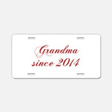 Grandma since 2014-Cho red2 170 Aluminum License P