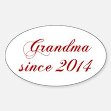 Grandma since 2014-Cho red2 170 Decal