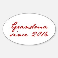 Grandma since 2014-Jan red2 250 Decal