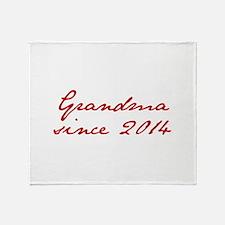 Grandma since 2014-Jan red2 250 Throw Blanket