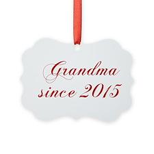 Grandma since 2015-Cho red2 170 Ornament