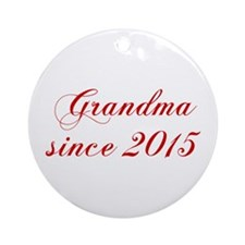Grandma since 2015-Cho red2 170 Ornament (Round)