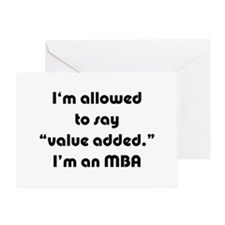 Value Added MBA Greeting Card