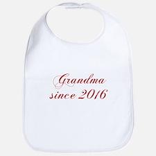Grandma since 2016-Cho red2 170 Bib