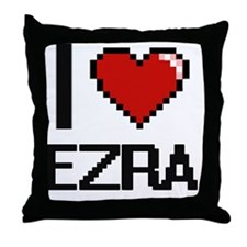 I Love Ezra Throw Pillow