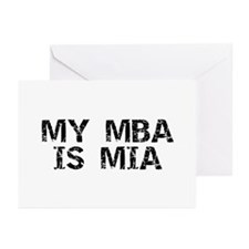 My MBA Is MIA Greeting Cards (Pk of 10)