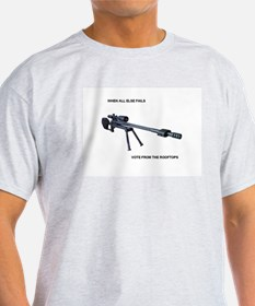 Funny Vote from rooftops T-Shirt