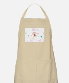 Elissa turns 1 today BBQ Apron