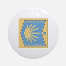 Camino de Santiago Spanish-Basque Ornament (Round)
