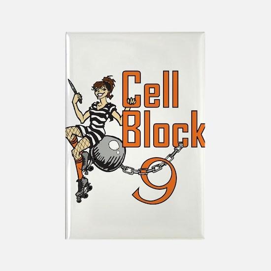 Cell Block 9 roller derby Rectangle Magnet