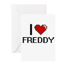 I Love Freddy Greeting Cards