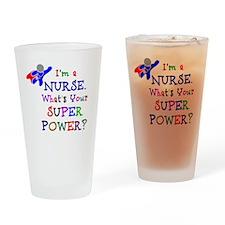 Nurse Superhero Drinking Glass