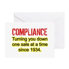 Compliance Turn Down Greeting Card