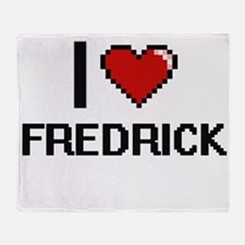 I Love Fredrick Throw Blanket