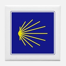 Camino de Santiago, Spain Tile Coaster
