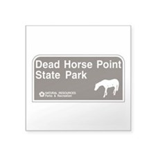 "Dead Horse Point State Park Square Sticker 3"" x 3"""