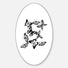 Black n White Butterflies 1 Decal