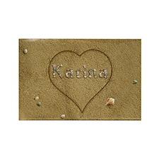 Karina Beach Love Rectangle Magnet