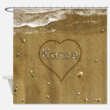 Karen Beach Love Shower Curtain