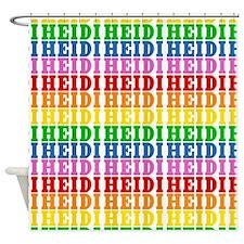 Rainbow Name Pattern Shower Curtain