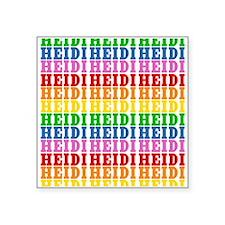 "Rainbow Name Pattern Square Sticker 3"" x 3"""