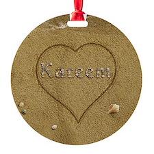 Kareem Beach Love Ornament