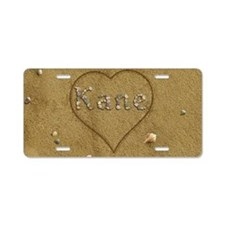 Kane Beach Love Aluminum License Plate