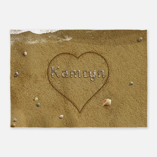 Kamryn Beach Love 5'x7'Area Rug