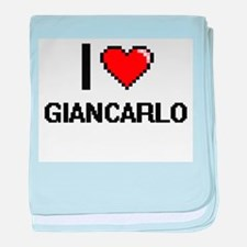 I Love Giancarlo baby blanket