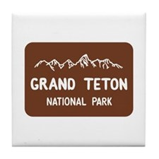 Grand Teton National Park, Wyoming Tile Coaster