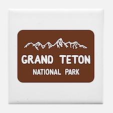 Grand Teton National Park, Wyoming Tile Coaster