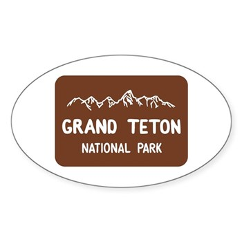 Grand Teton National Park, Wyoming Sticker (Oval)