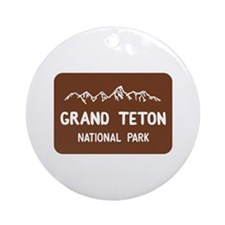 Grand Teton National Park, Wyomin Ornament (Round)