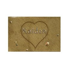 Kaiden Beach Love Rectangle Magnet