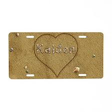 Kaiden Beach Love Aluminum License Plate